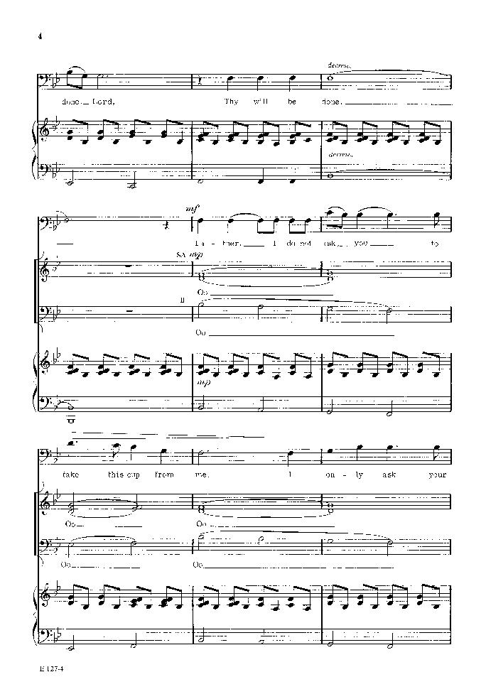 thy will sheet music