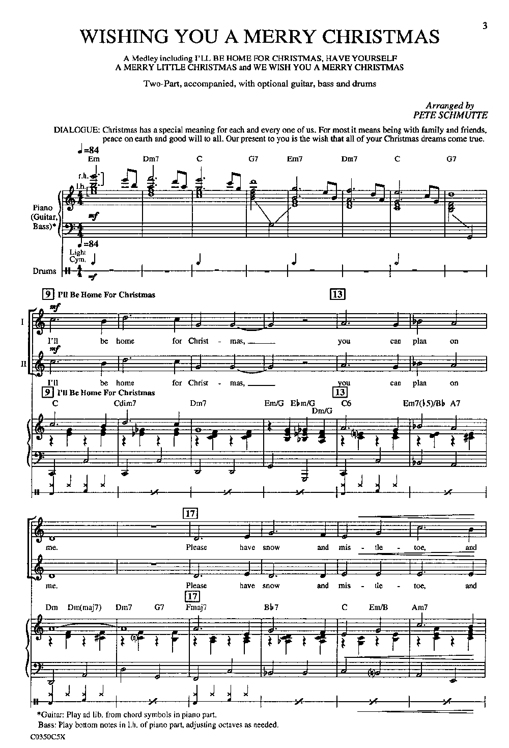 Wishing You a Merry Christmas (Two-Part ) by | J.W. Pepper Sheet Music