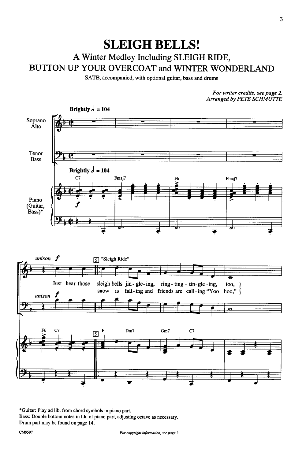Sleigh Bells Satb Arr Pete Schmutte Jw Pepper Sheet Music