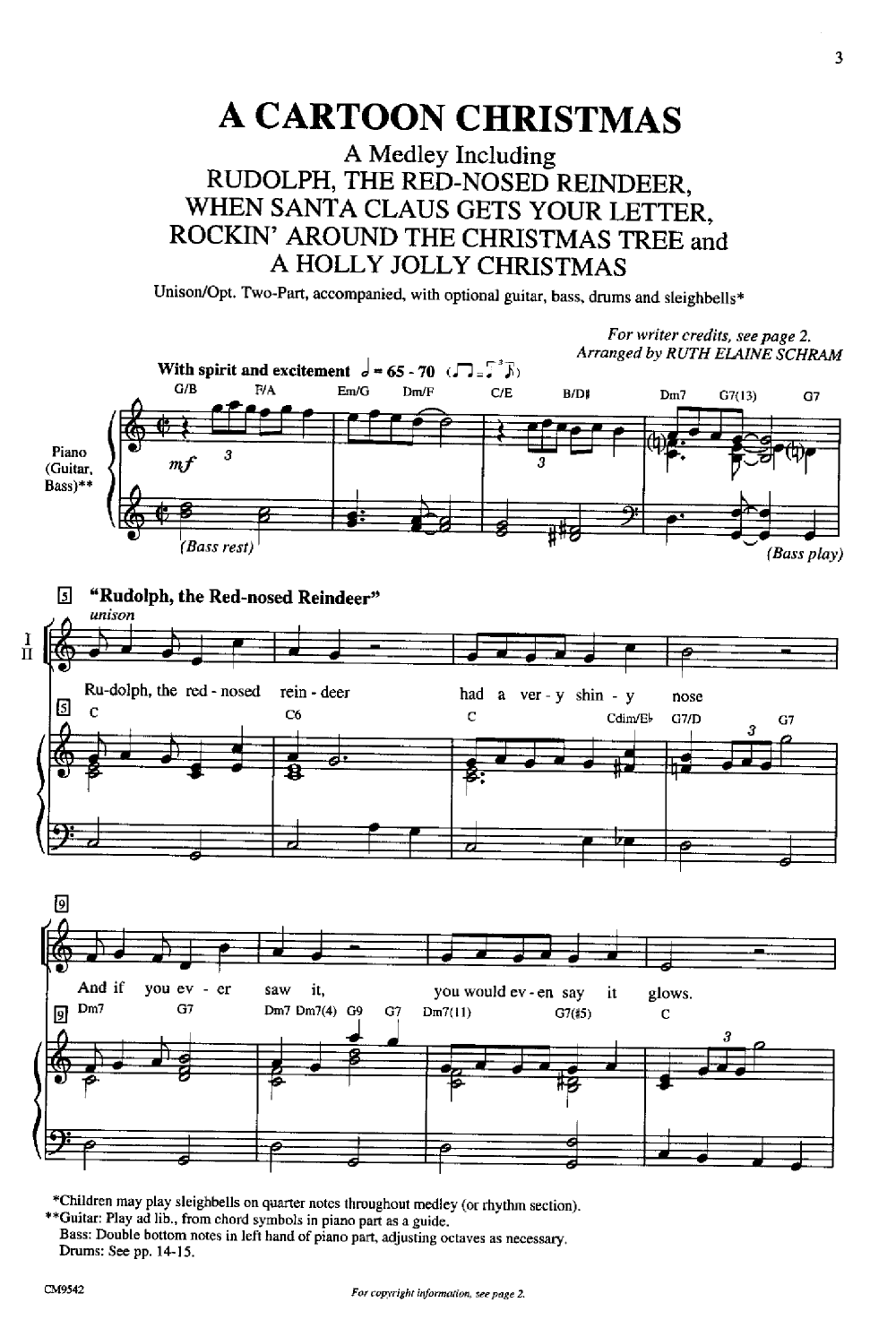 Cartoon Christmas Unisontwo Part By Schr Jw Pepper Sheet Music