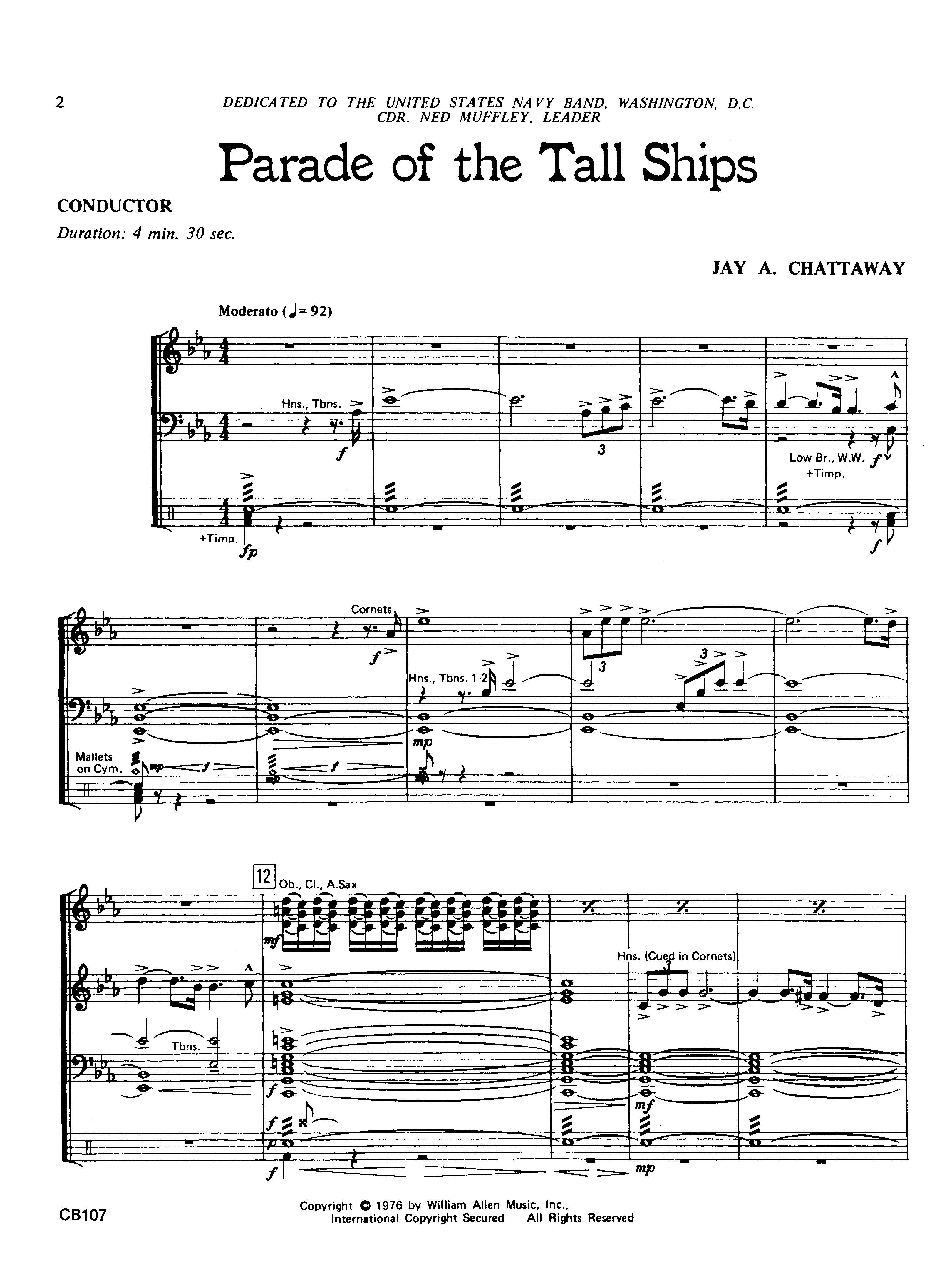Parade Of The Tall Ships By Jay Chattaway Jw Pepper Sheet Music Parts A Ship For Pinterest Thumbnail