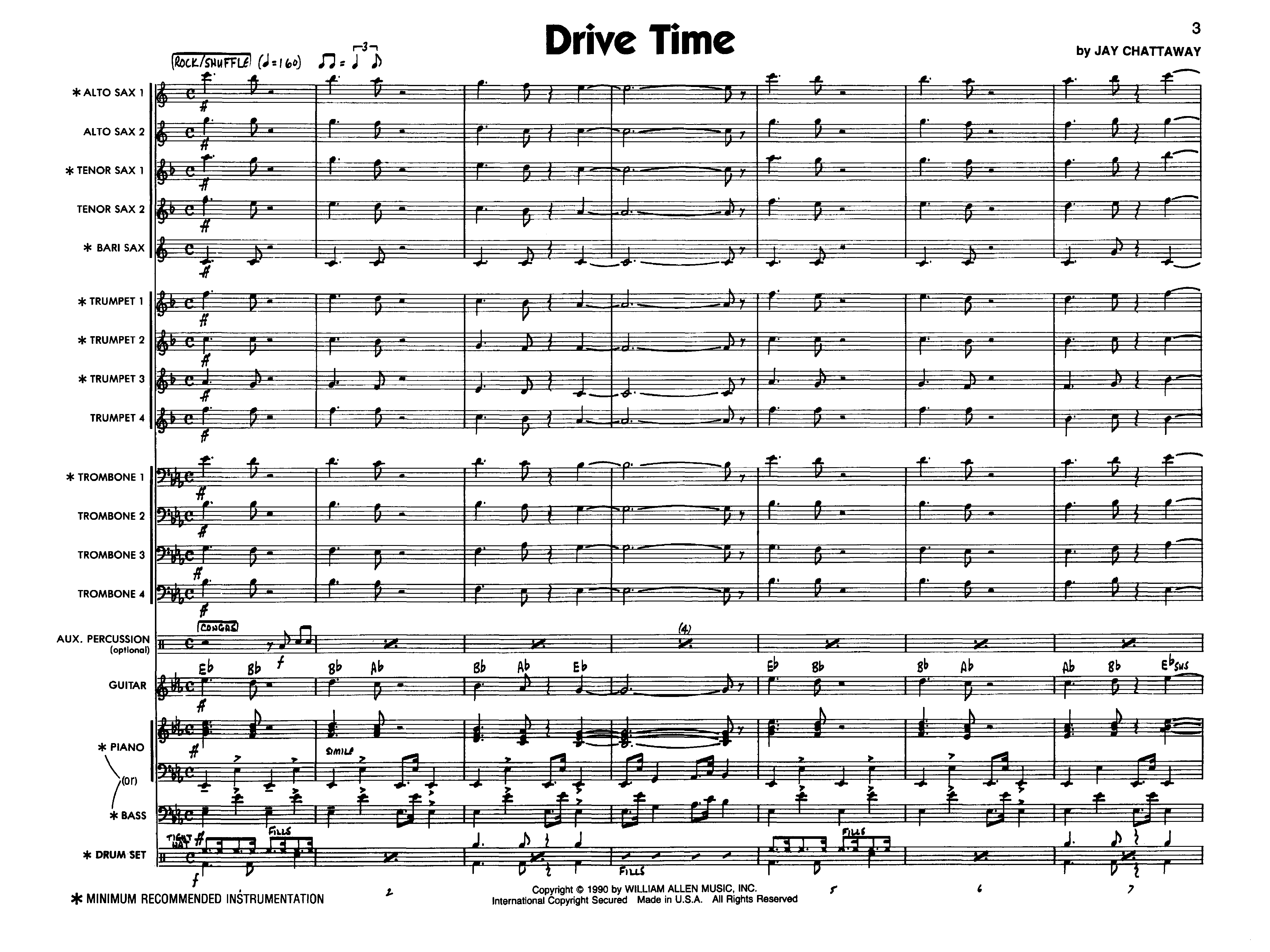 Drive Time by Chattaway J W Pepper Sheet Music