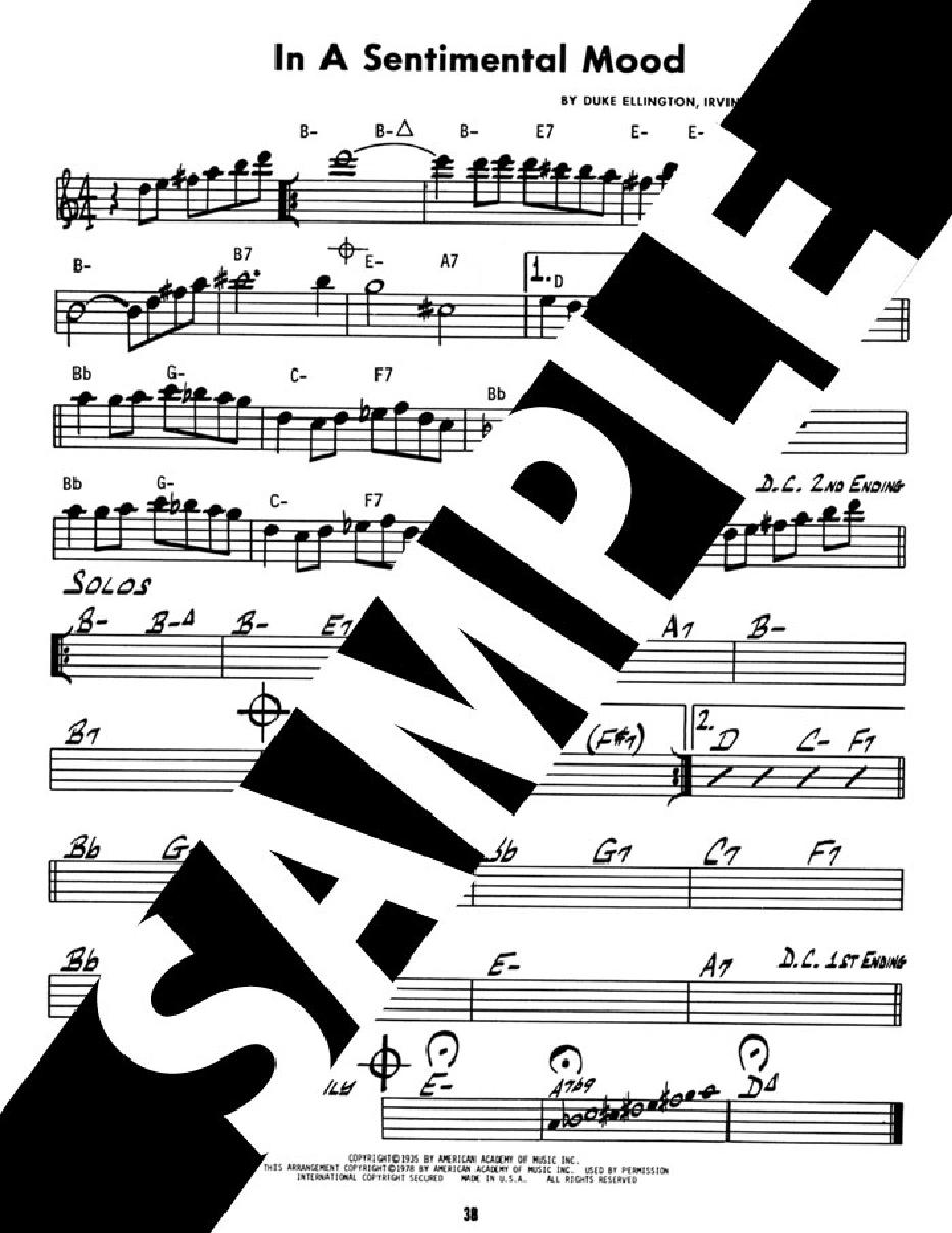 Jamey Aebersold Jazz Volume 12 Duke Ellington Jw Pepper Sheet