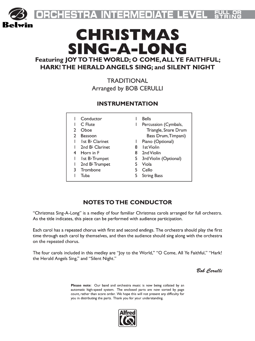 Christmas Sing-Along arr. Bob Cerulli| J.W. Pepper Sheet Music
