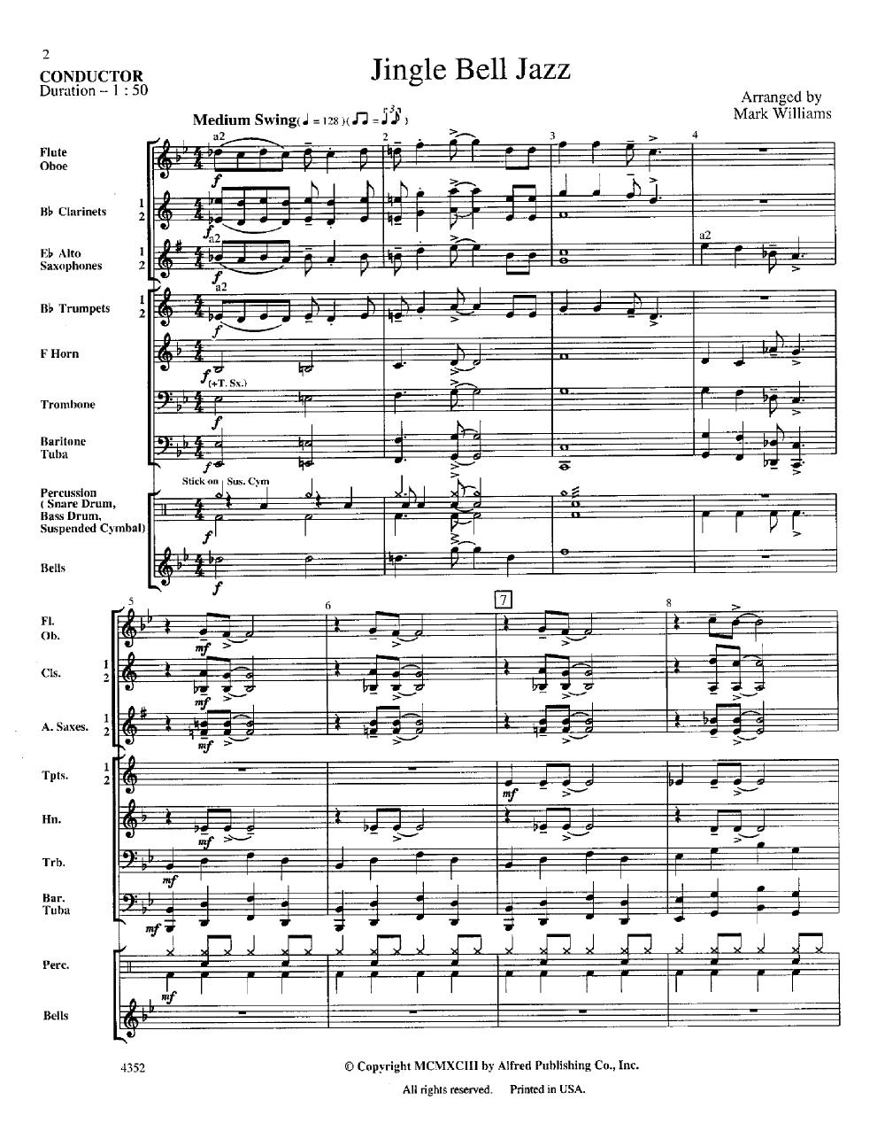 jingle bell jazzwilliams, m  j.w. pepper sheet music