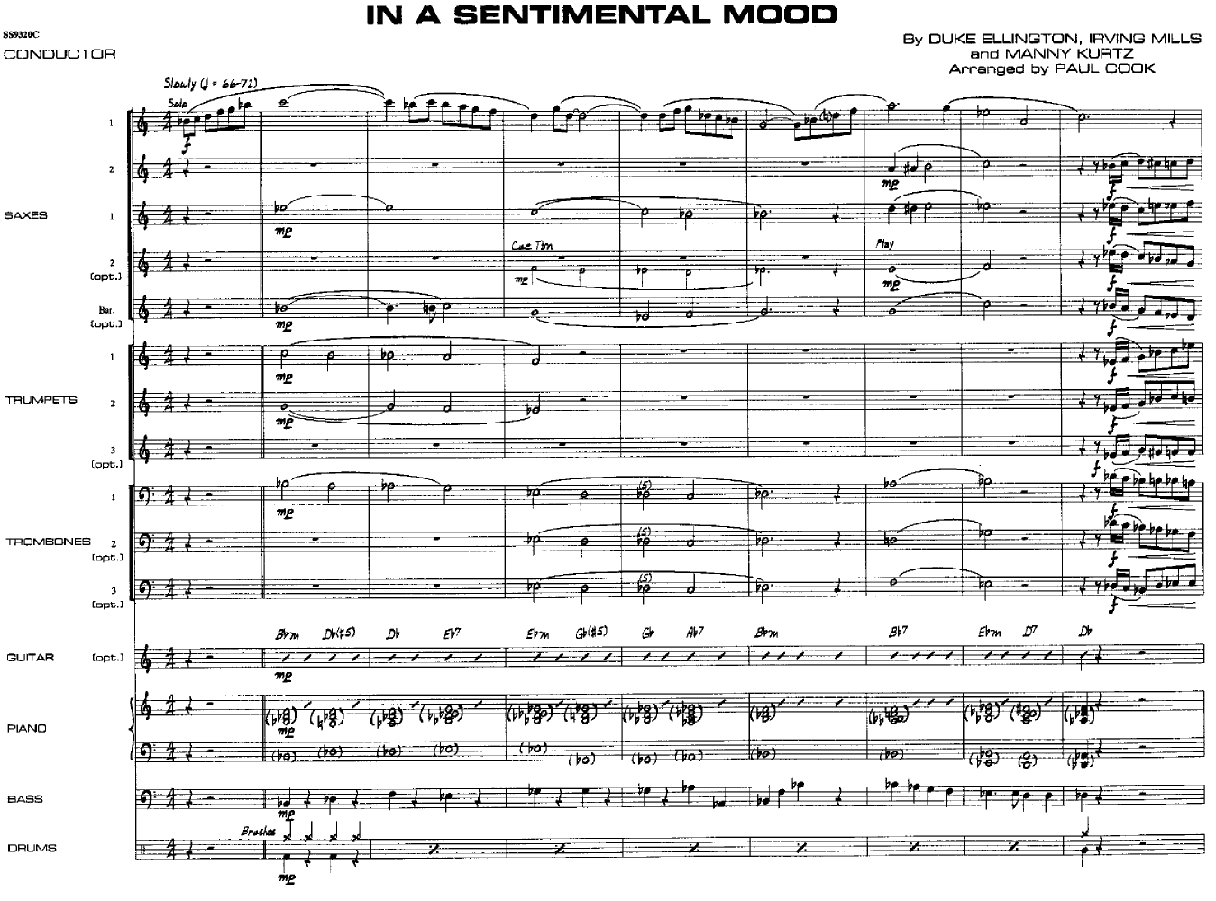 In A Sentimental Mood Piano Sheet Music Ibovnathandedecker