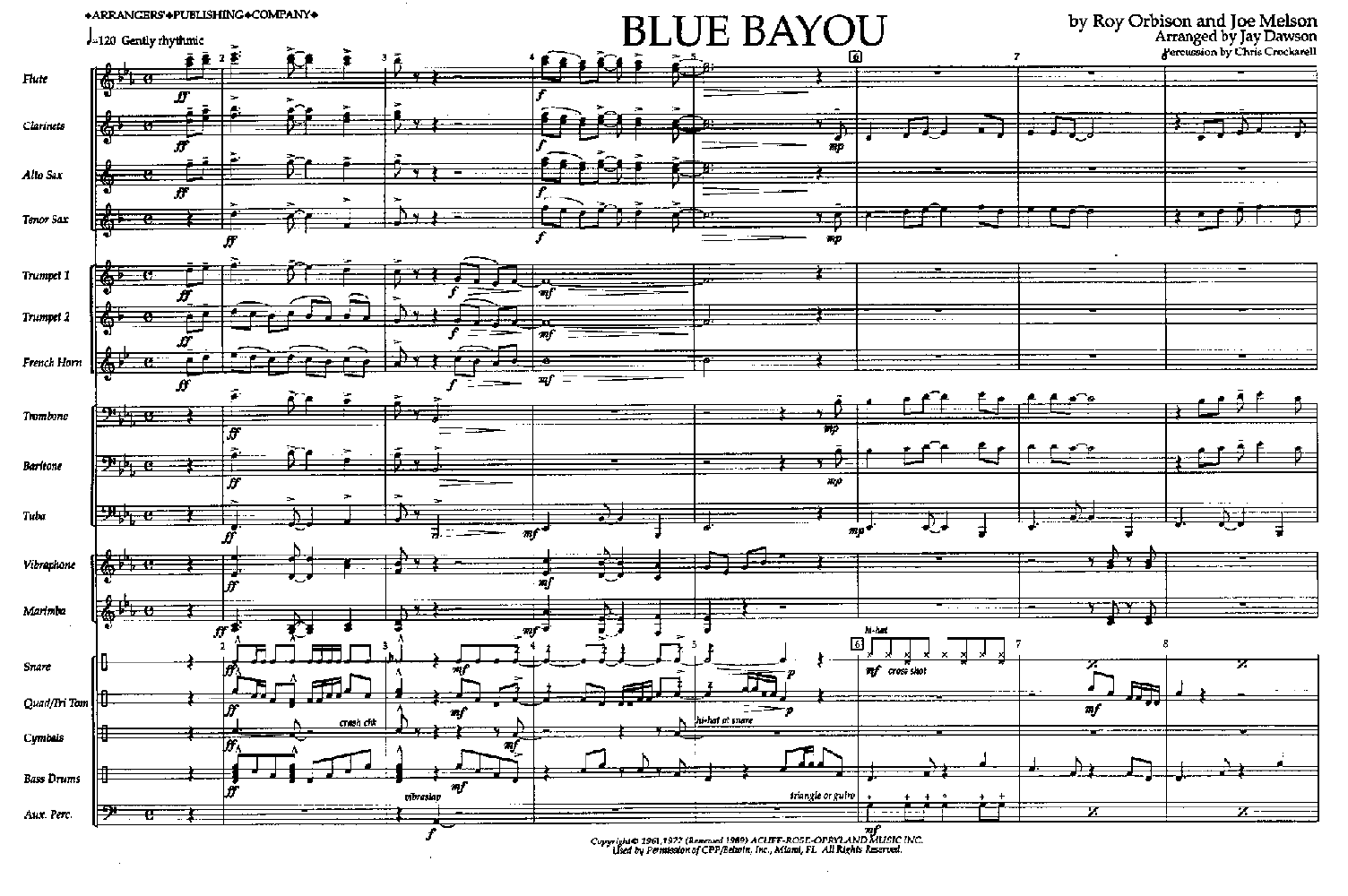 Blue Bayou Sheet Music Keninamas