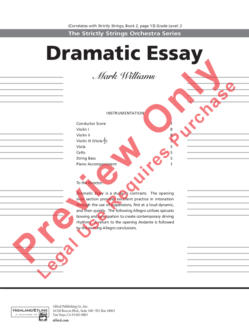 Dramatic essay recording