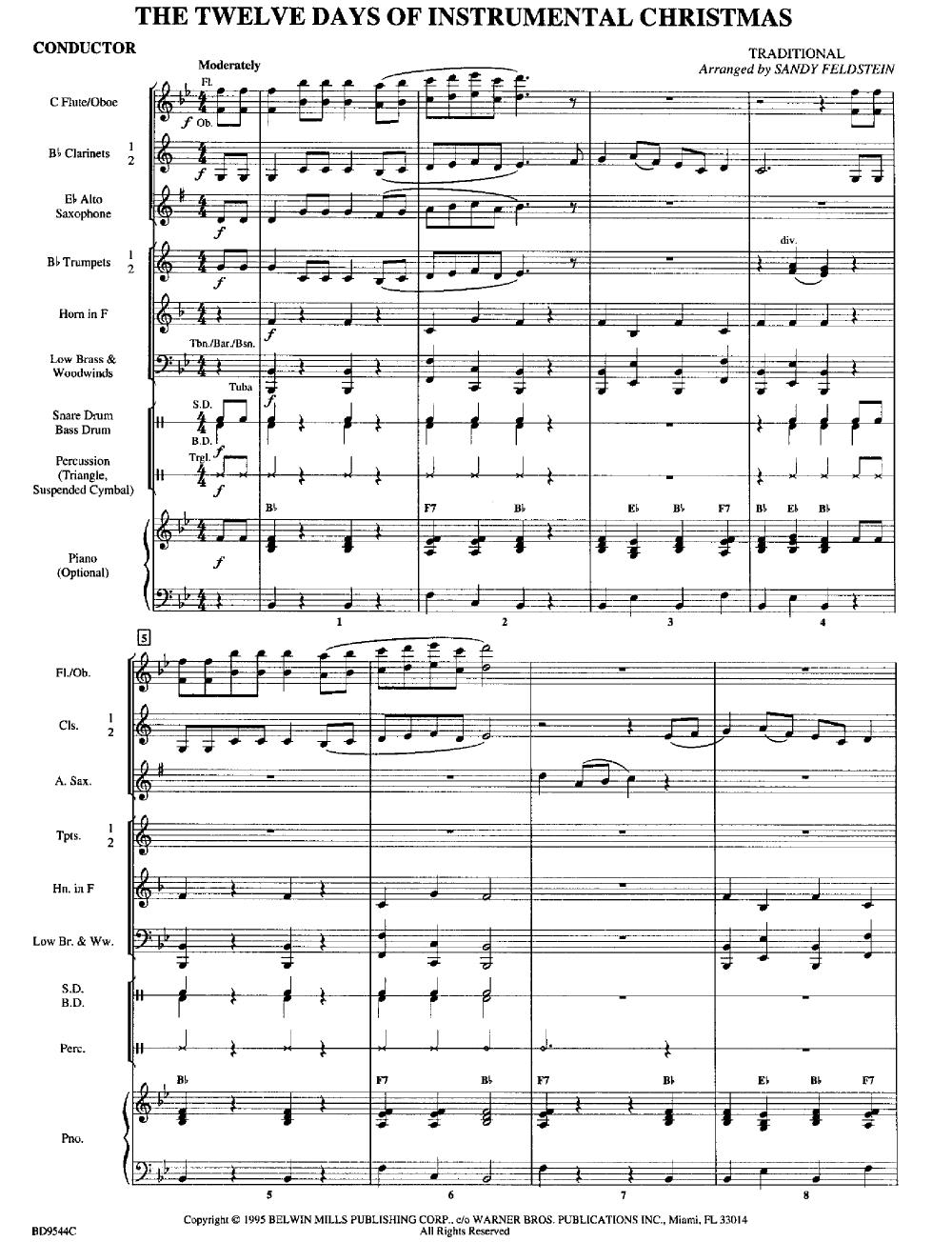 The Twelve Days of Instrumental Christmas arr. Sa | J.W. Pepper ...