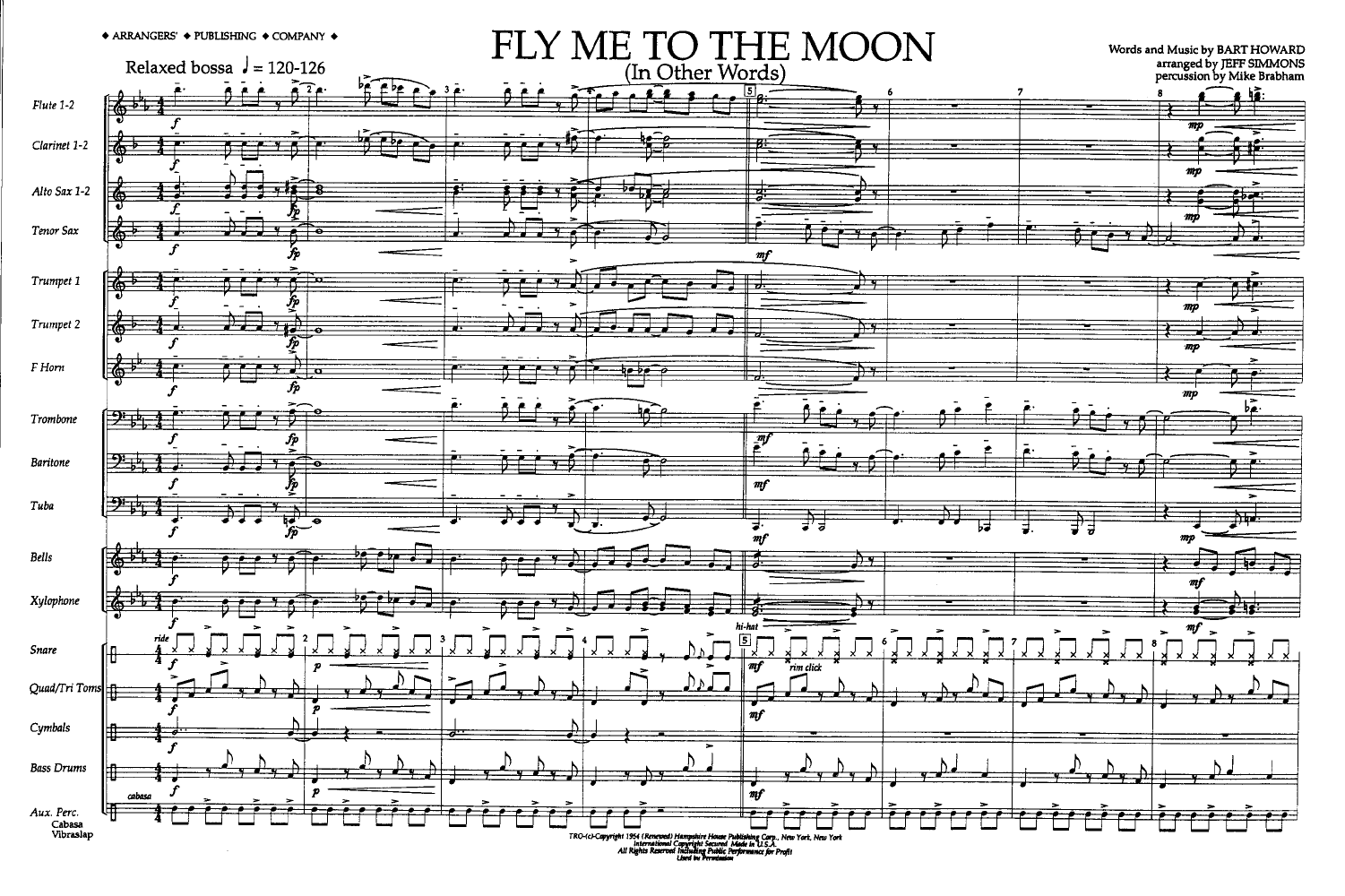 fly me to the moon by simmons j j w pepper sheet music. Black Bedroom Furniture Sets. Home Design Ideas