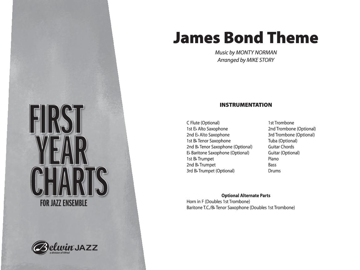 James Bond Theme By Monty Normanarr Mike Story Jw Pepper Sheet