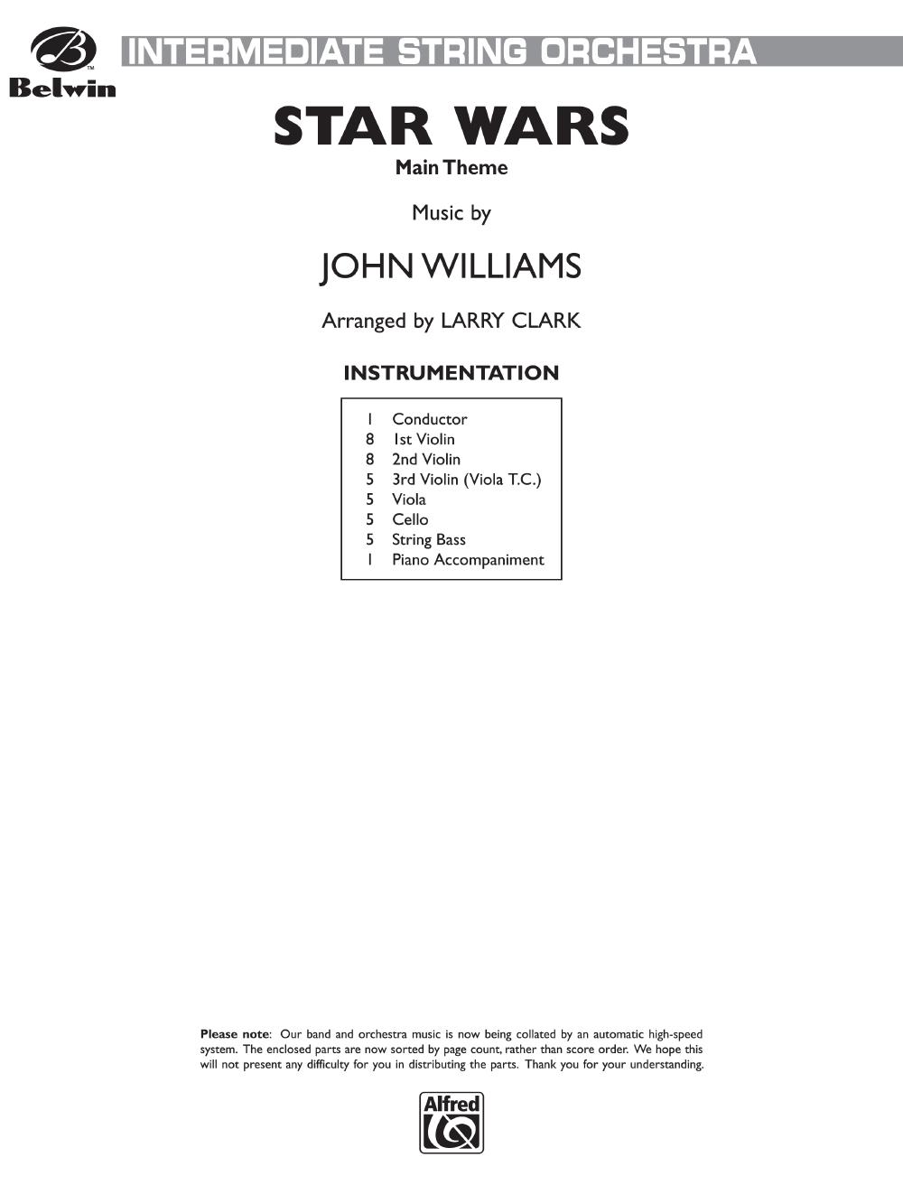 star wars by john williams arr larry clark j w pepper sheet music