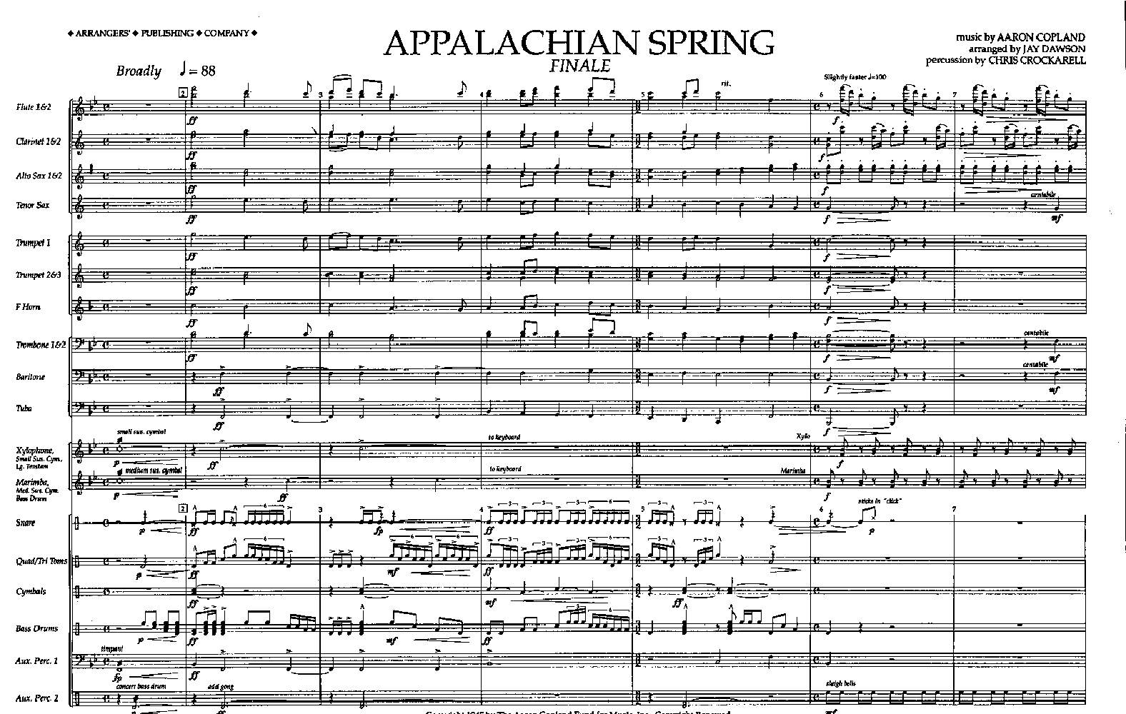 Aaron Copland / List of Works // Copland House …where ...