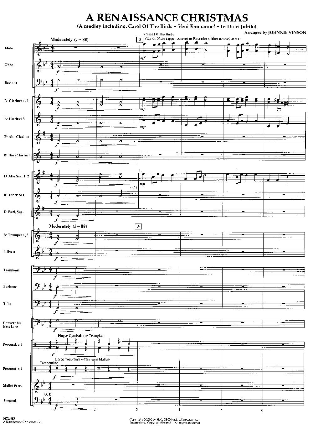 A Renaissance Christmas arr. Johnnie Vinson| J.W. Pepper Sheet Music