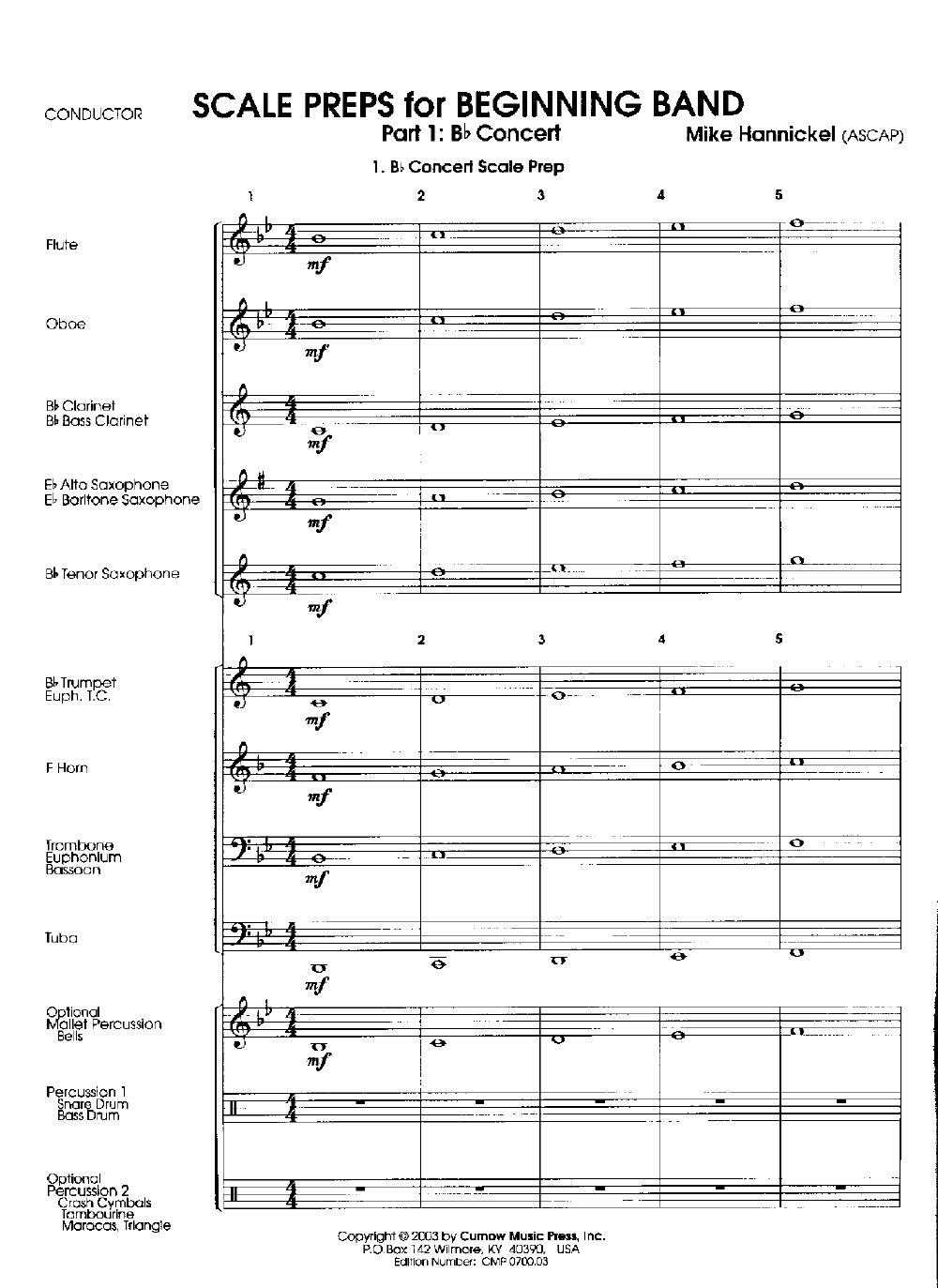 scale preps for beginning band by mike hannickel j w pepper sheet music. Black Bedroom Furniture Sets. Home Design Ideas