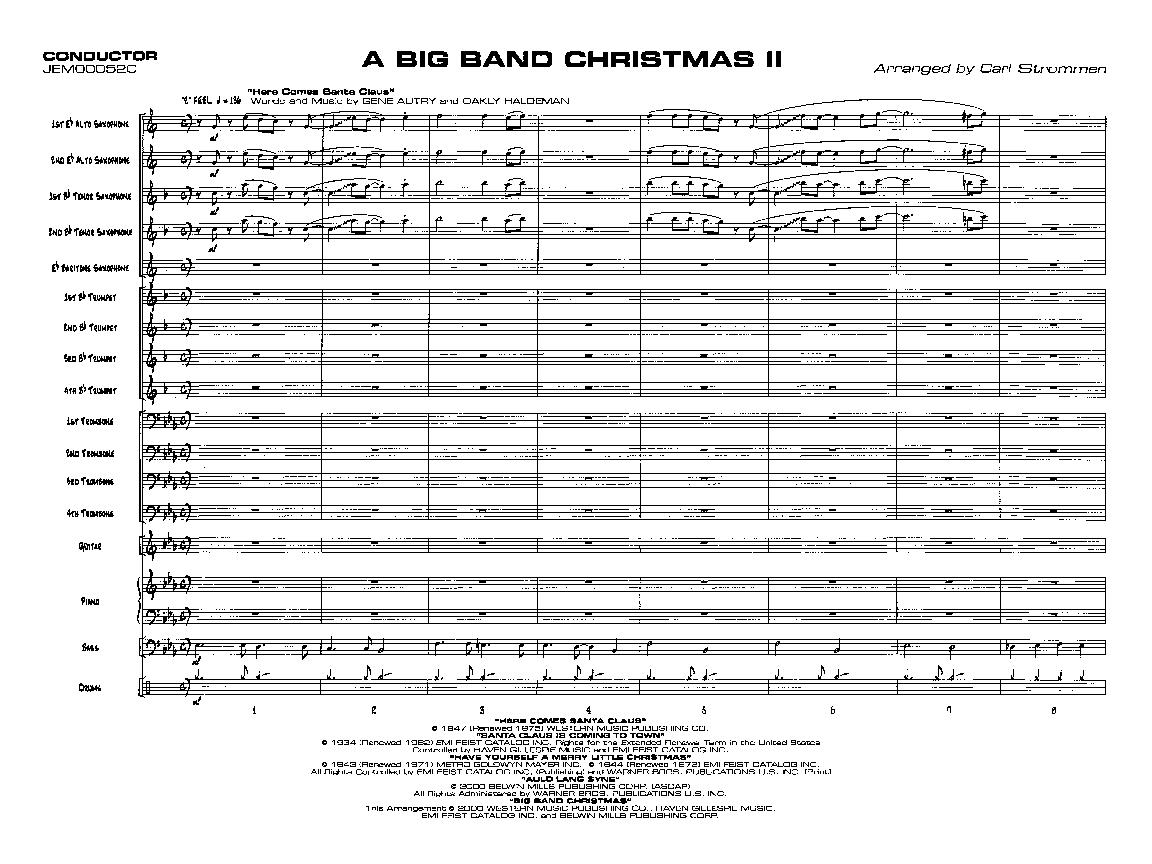 Big band scores free pdf