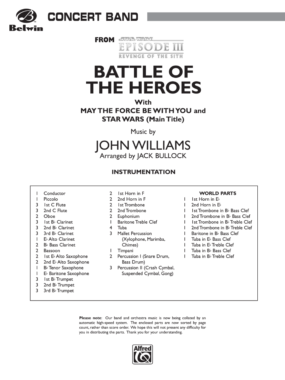 battle of the heroes sheet music
