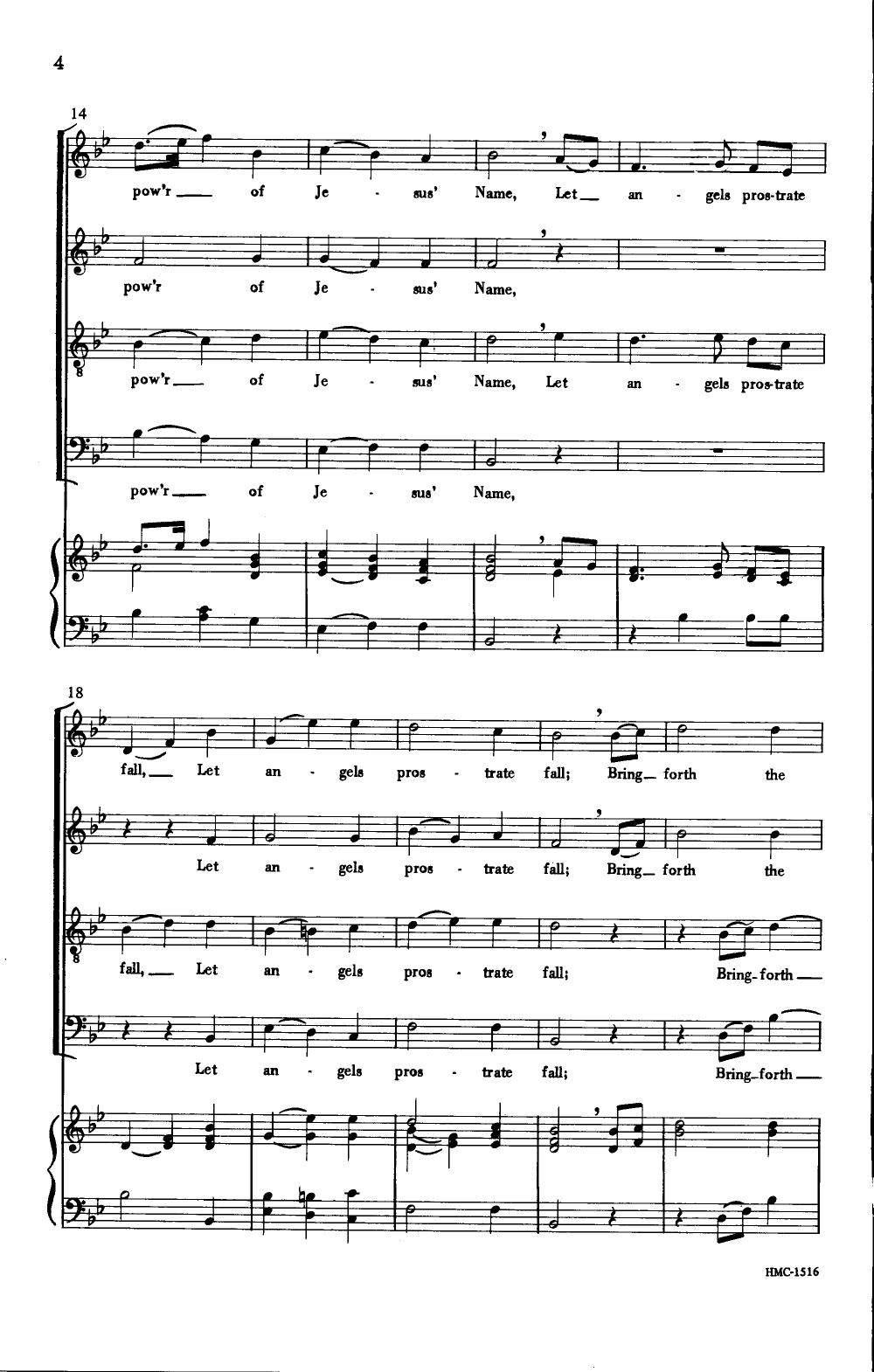 all hail the power of jesus name sheet music pdf