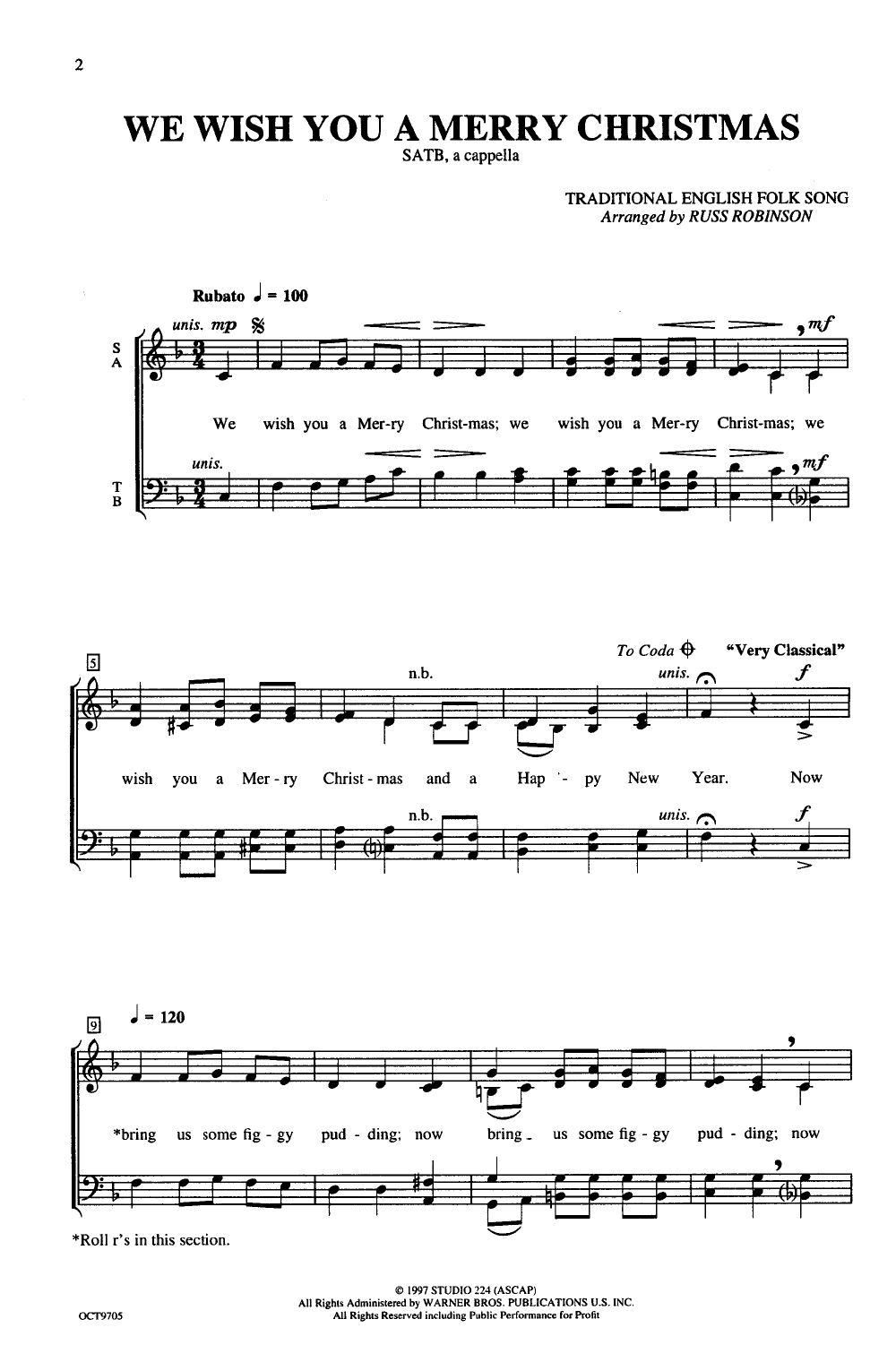 We Wish You a Merry Christmas (SATB ) by ROB | J.W. Pepper Sheet Music