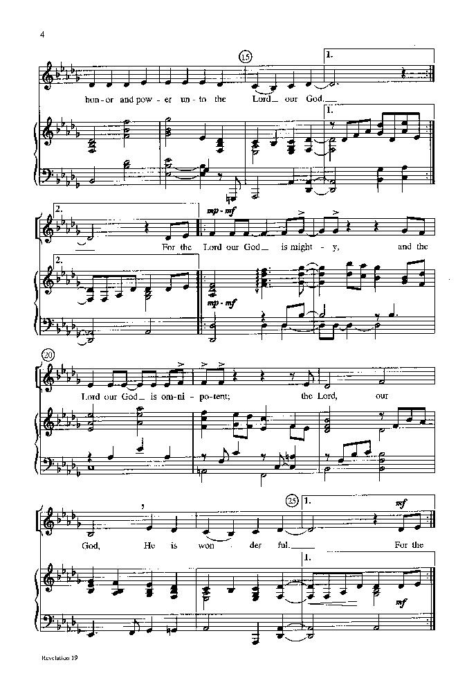 Revelation 19 Satb By Jeffrey Lavalleyar Jw Pepper Sheet Music