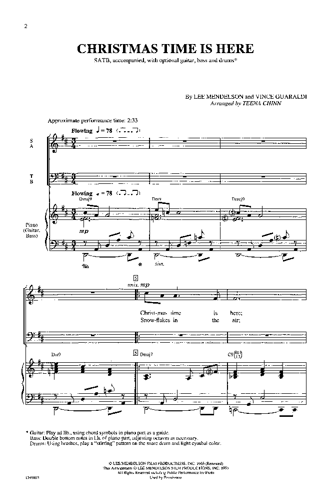 Christmas Time Is Here (SATB ) by Lee Mendel | J.W. Pepper Sheet Music