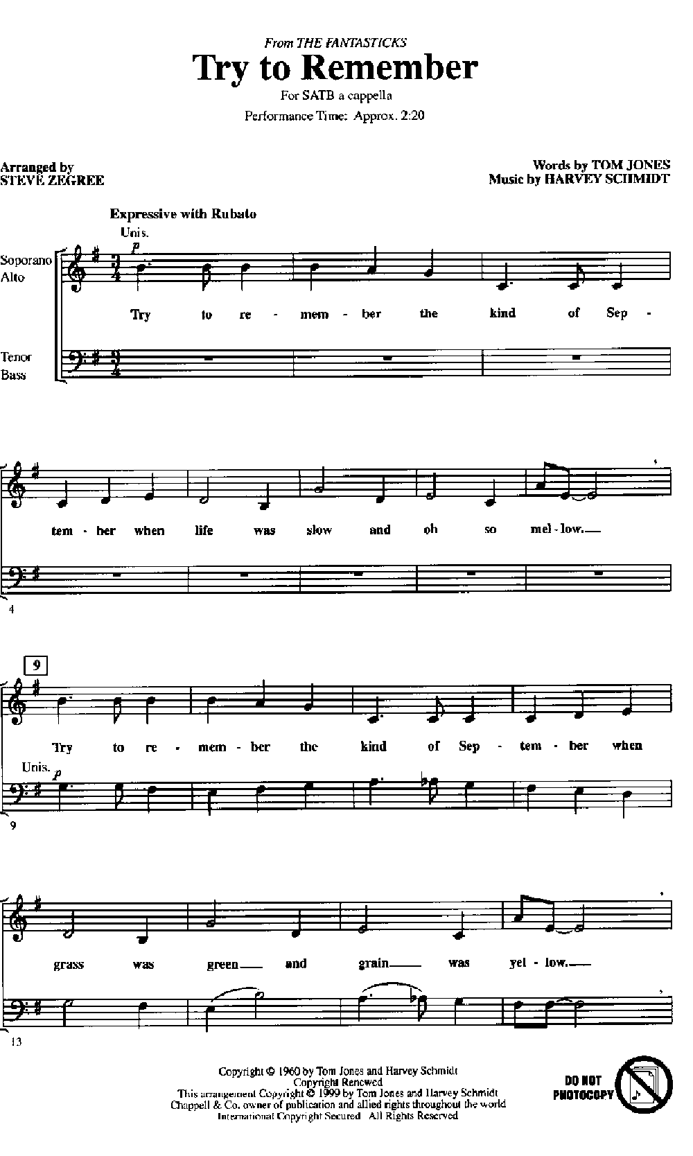 try to remember sheet music