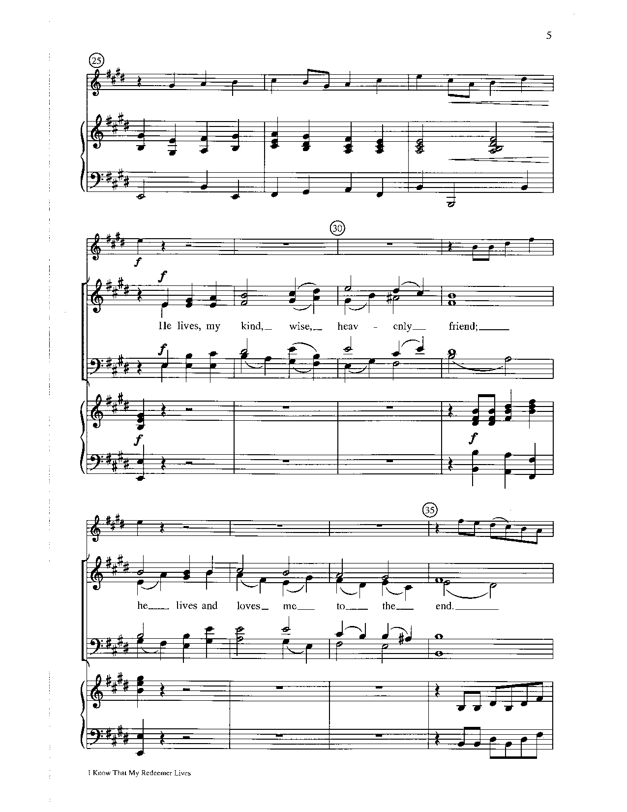 i know that my redeemer lives sheet music pdf