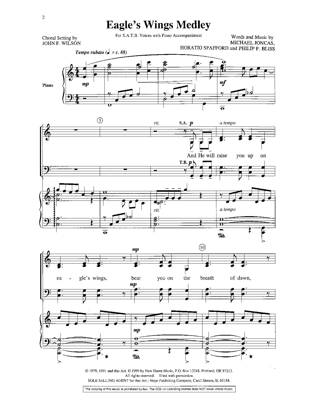 Eagles wings piano score eagle u0027s wings array eagles wings medley satb by wilson j j w pepper sheet music rh jwpepper com fandeluxe Gallery