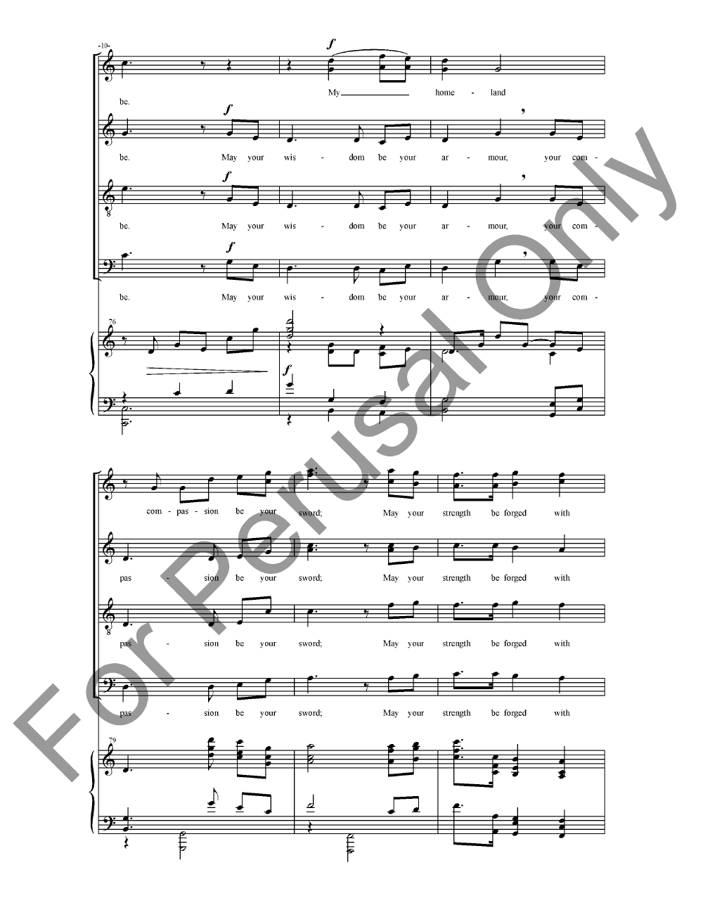 Homeland (SATB ) by Gustav Holst/ed. Randall | J.W. Pepper Sheet Music
