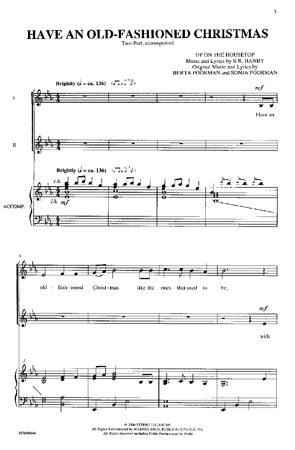 Old Fashioned Christmas (Two-Part ) by POORM | J.W. Pepper Sheet Music