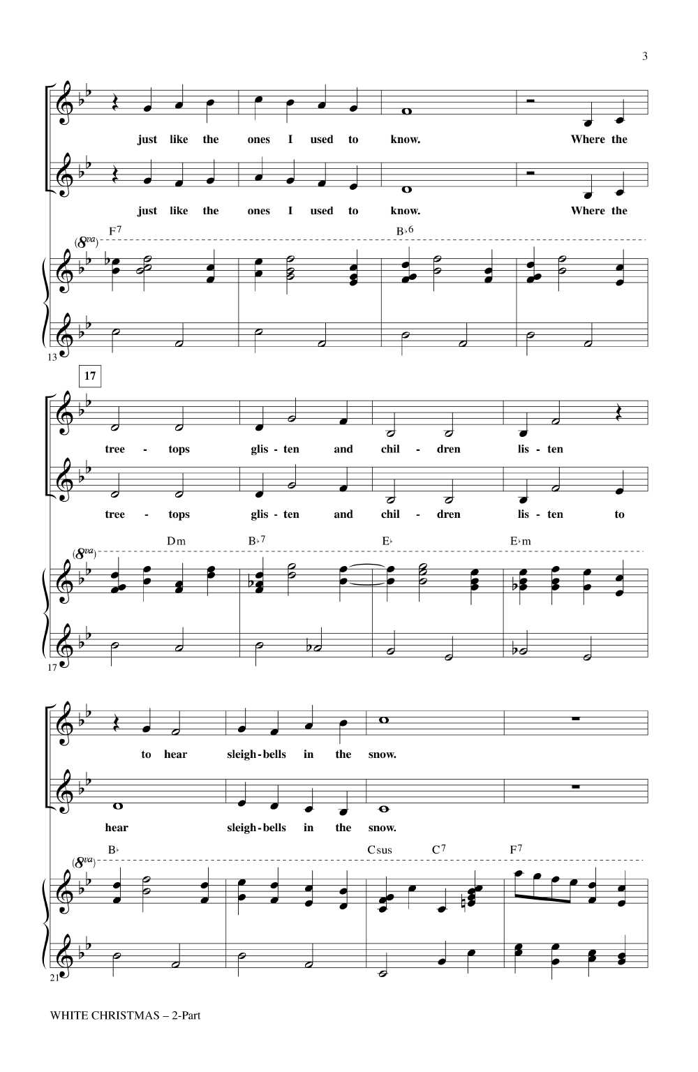 White Christmas (Two-Part ) by Irving Berlin | J.W. Pepper Sheet Music