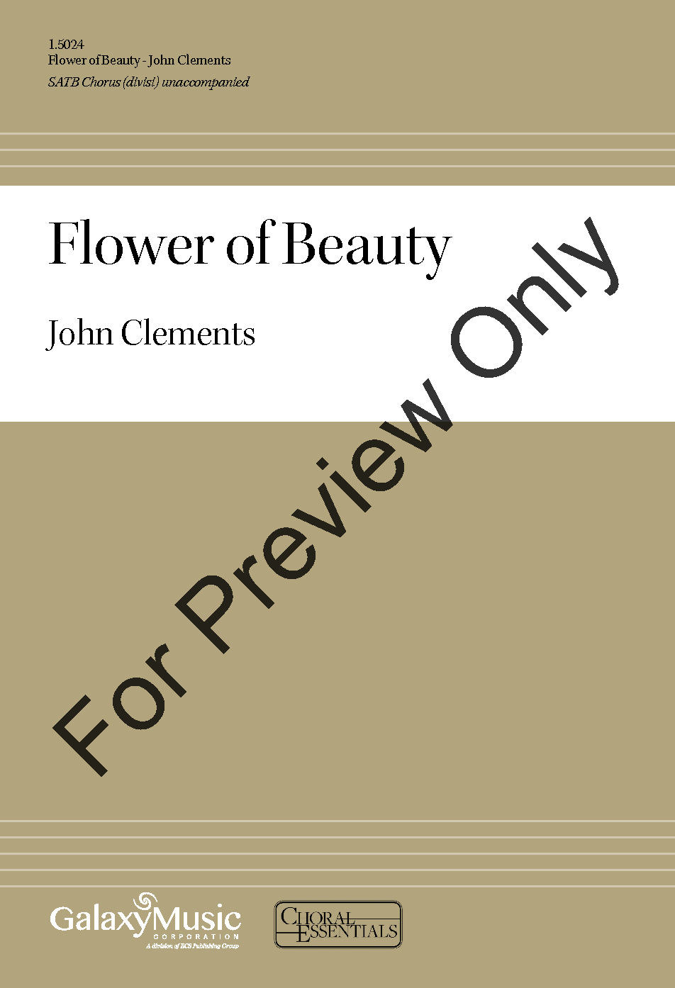 Flower Of Beauty Satb By John Clements Jw Pepper Sheet Music