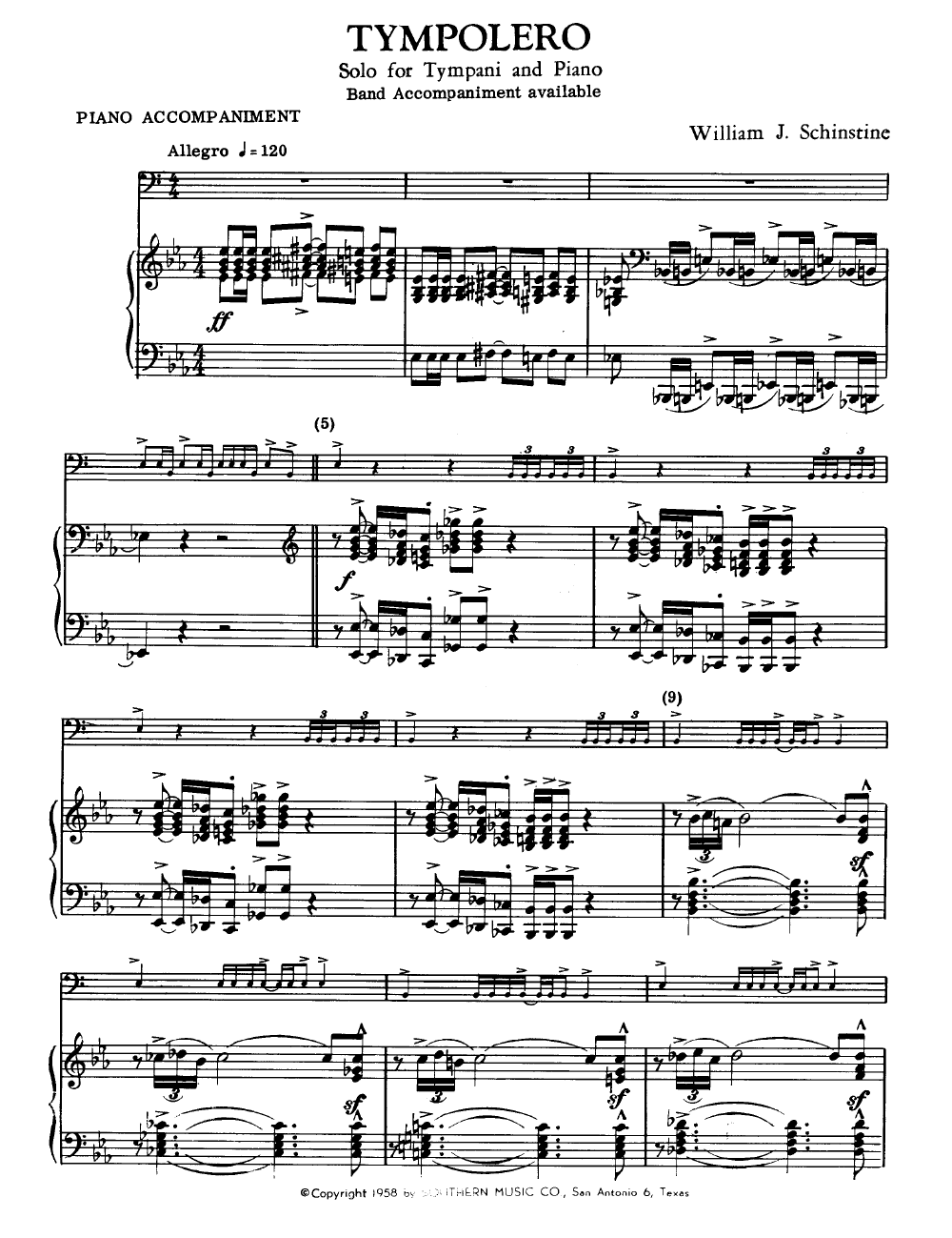timpani sheet music