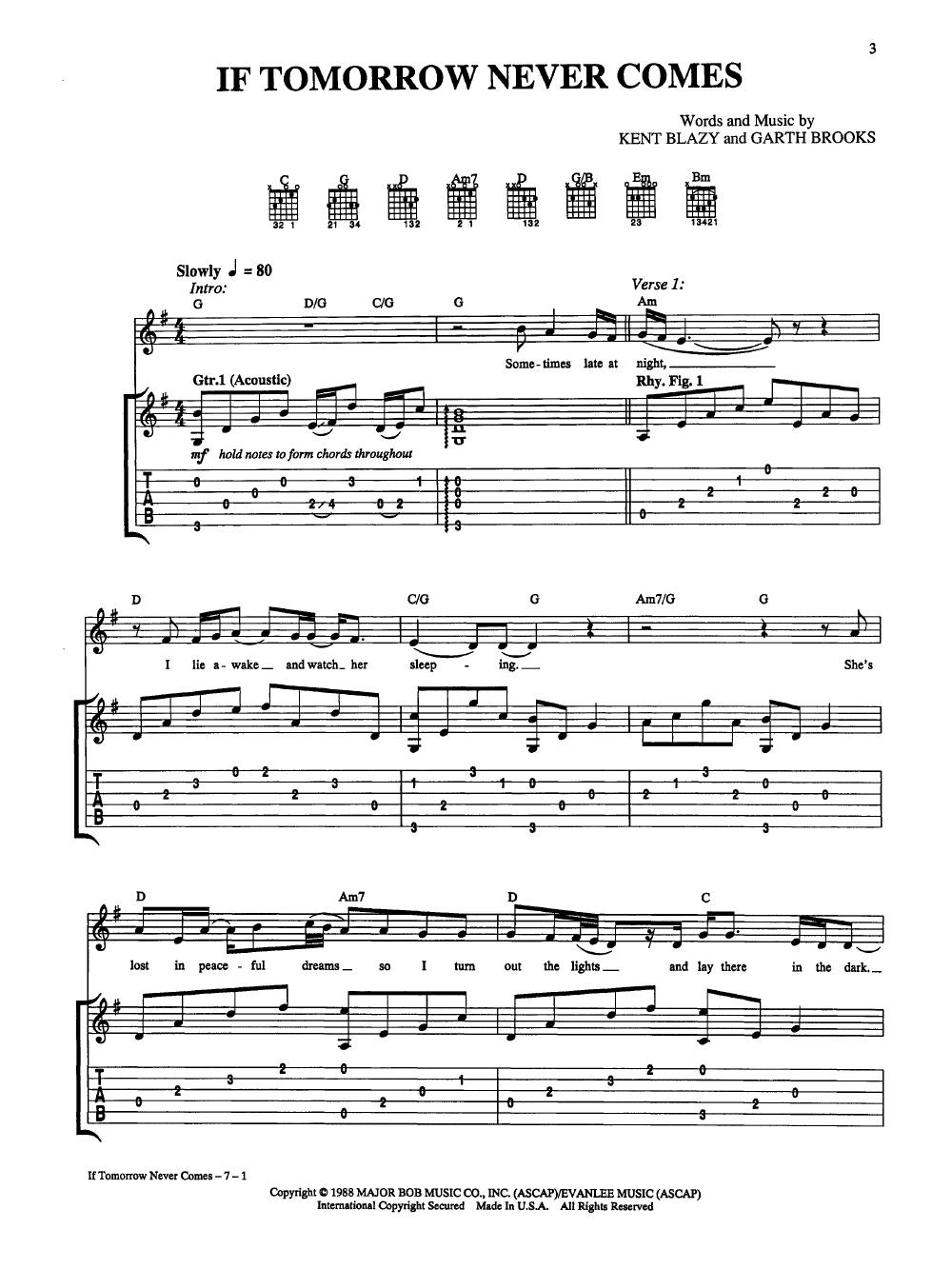 Best Of Garth Brooks Guitartabvocal By Brooks Jw Pepper Sheet Music