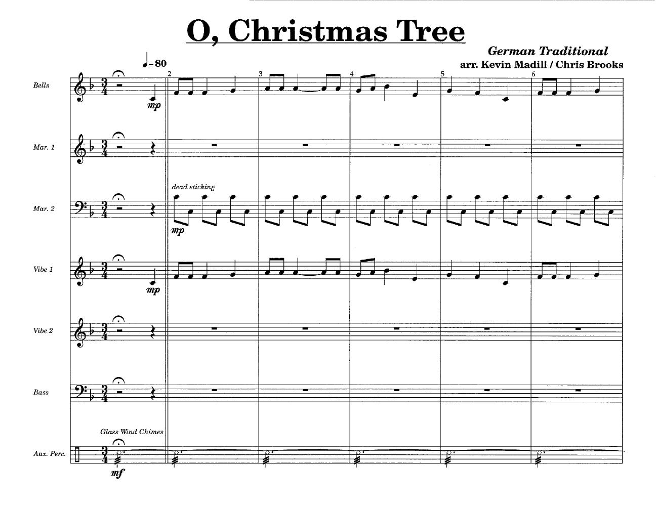 O Christmas Tree (Percussion Ensemble 8 | J.W. Pepper Sheet Music