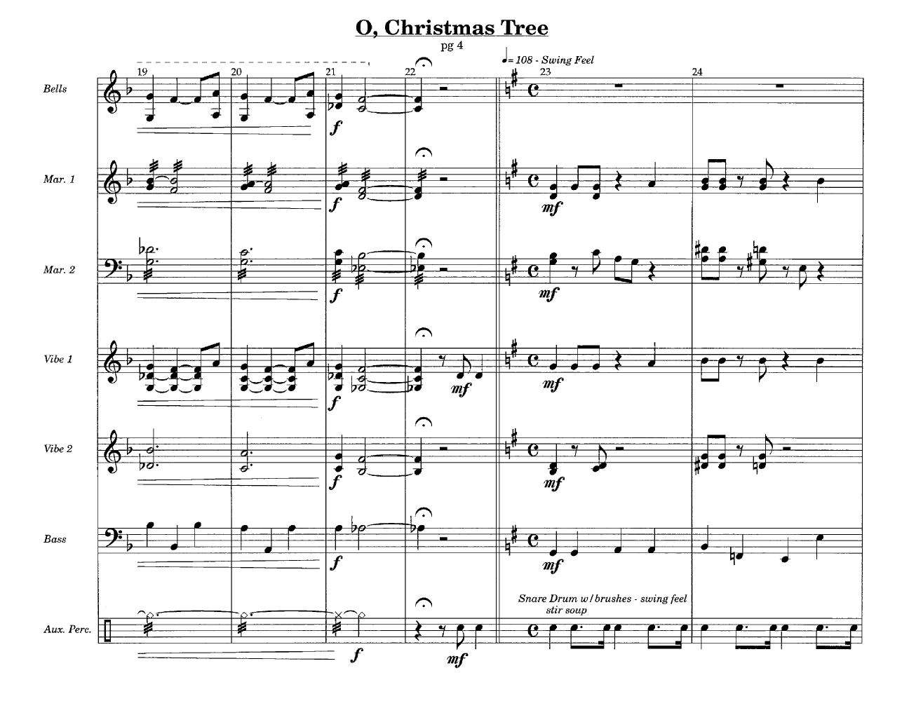 O Christmas Tree (Percussion Ensemble 8 | J.W. Pepper Sheet Music
