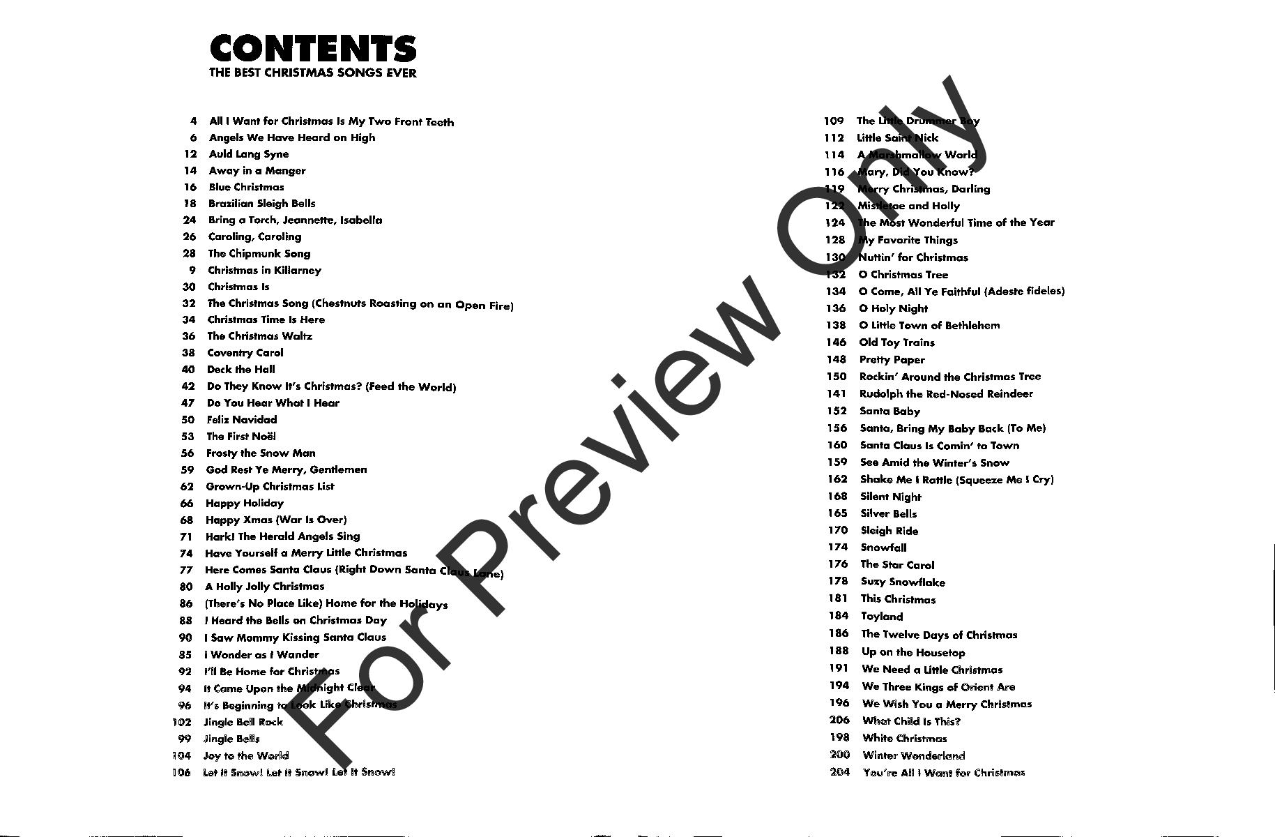 EZ Play Vol. 215 : The Best Christmas Songs Ever | J.W. Pepper Sheet ...