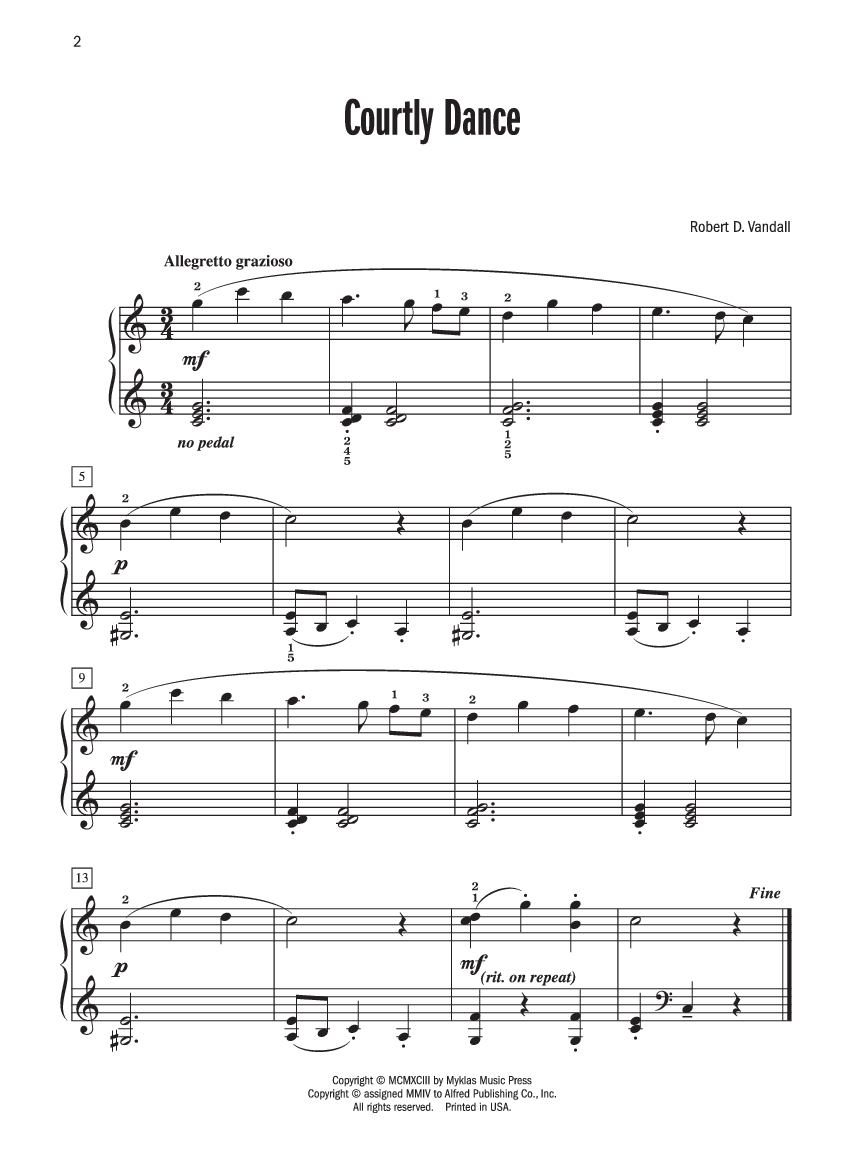 Stomping Five (Robert Vandall) - Piano Solo Sheet Music