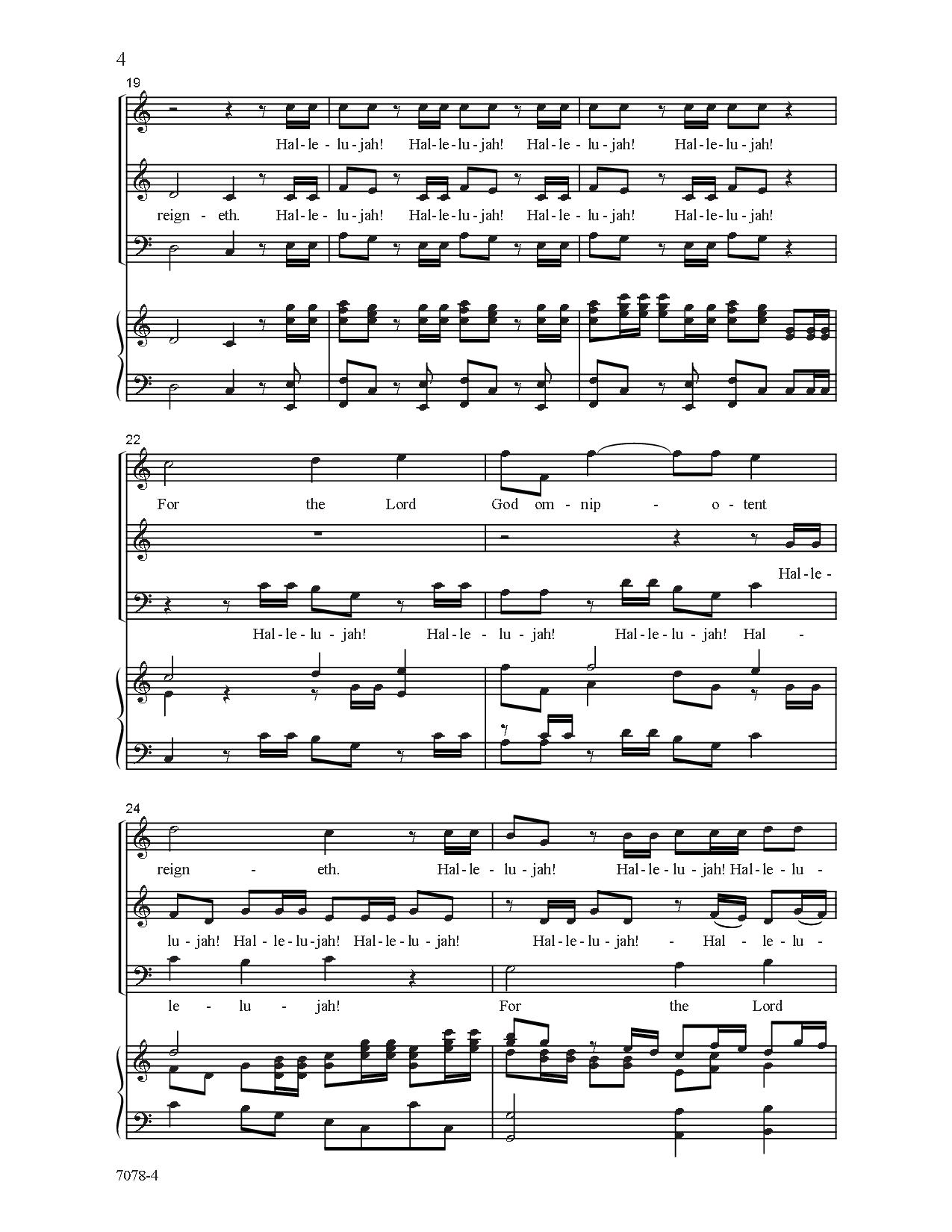 hallelujah chorus sab sheet music pdf