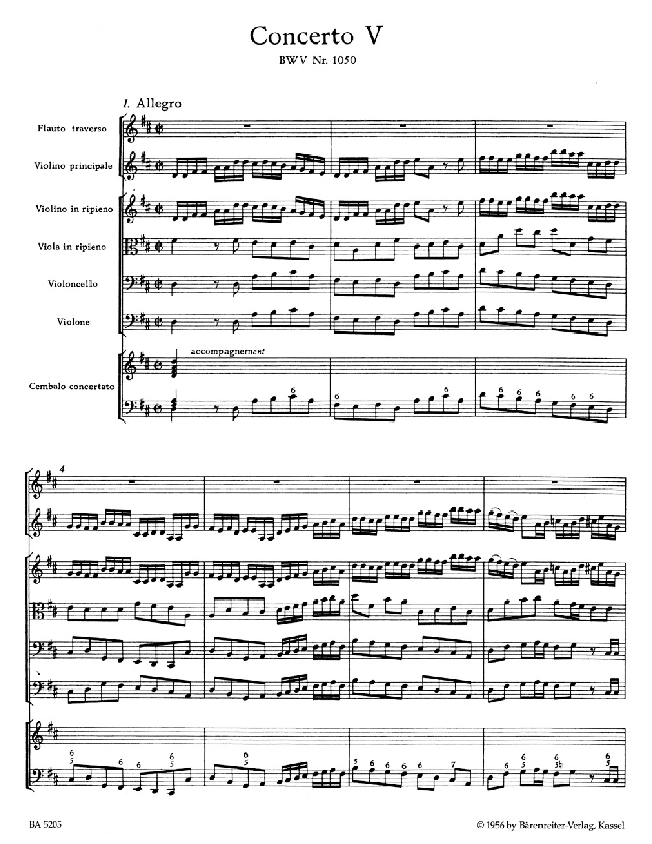 brandenburg concerto no 5 analysis Program notes js bach - the brandenburg concertos throughout his life bach liked to make collections, always with intent of demonstrating variety and invention in a certain kind of music.