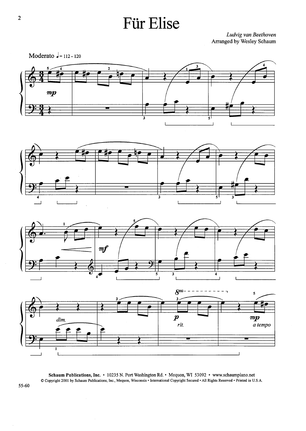Fur Elise Piano Sheet Music Easy Kopepulsar