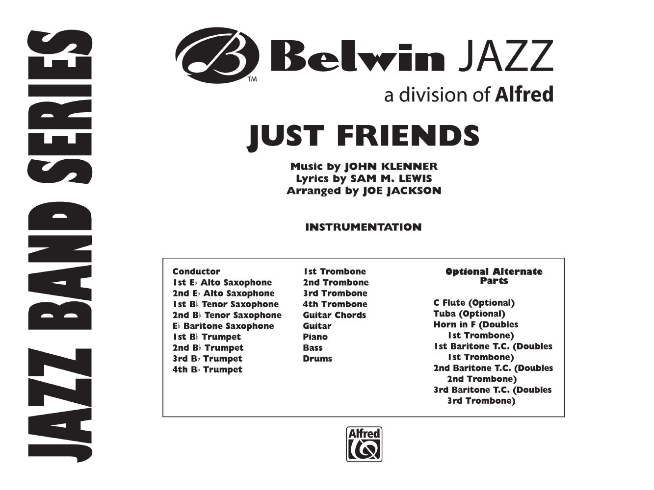 Just Friends Additional Score Arr Joe Ja Jw Pepper Sheet Music