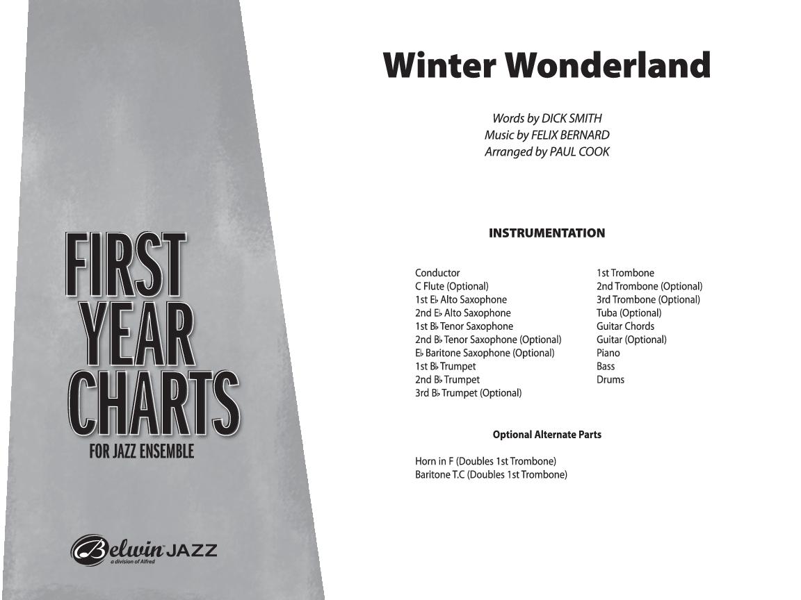 Winter Wonderland Additional Score Arr P Jw Pepper Sheet Music