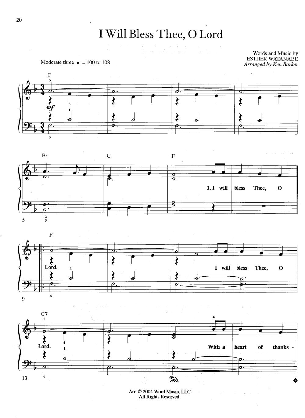 Three Chord Praise Easy Piano Arr Ken Ba Jw Pepper Sheet Music