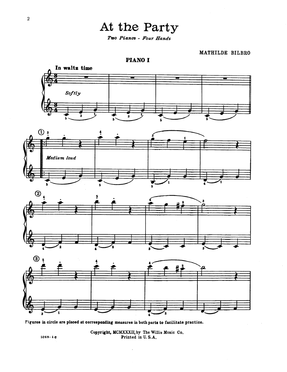 At The Party 2 Pianos 4 Hands By Bilbro Jw Pepper Sheet Music Piano Parts Diagram Willis Company