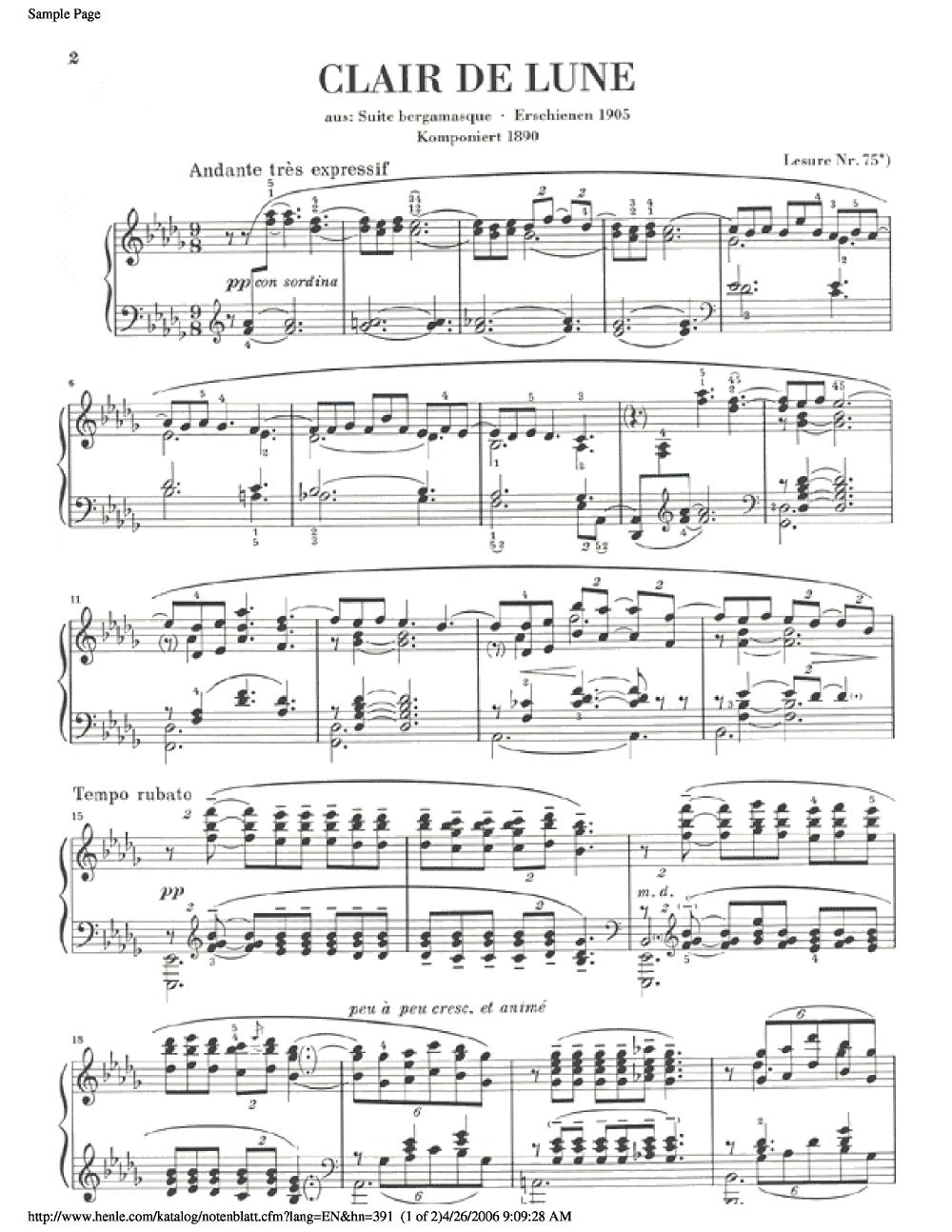 Claire De Lune Debussy
