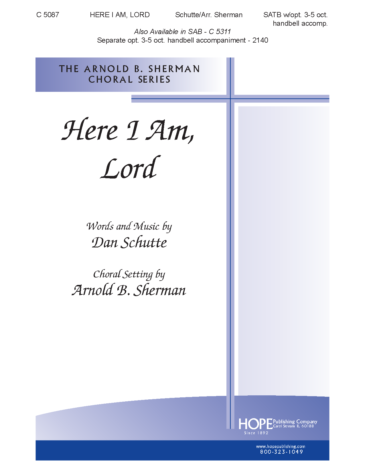 here i am lord satb pdf