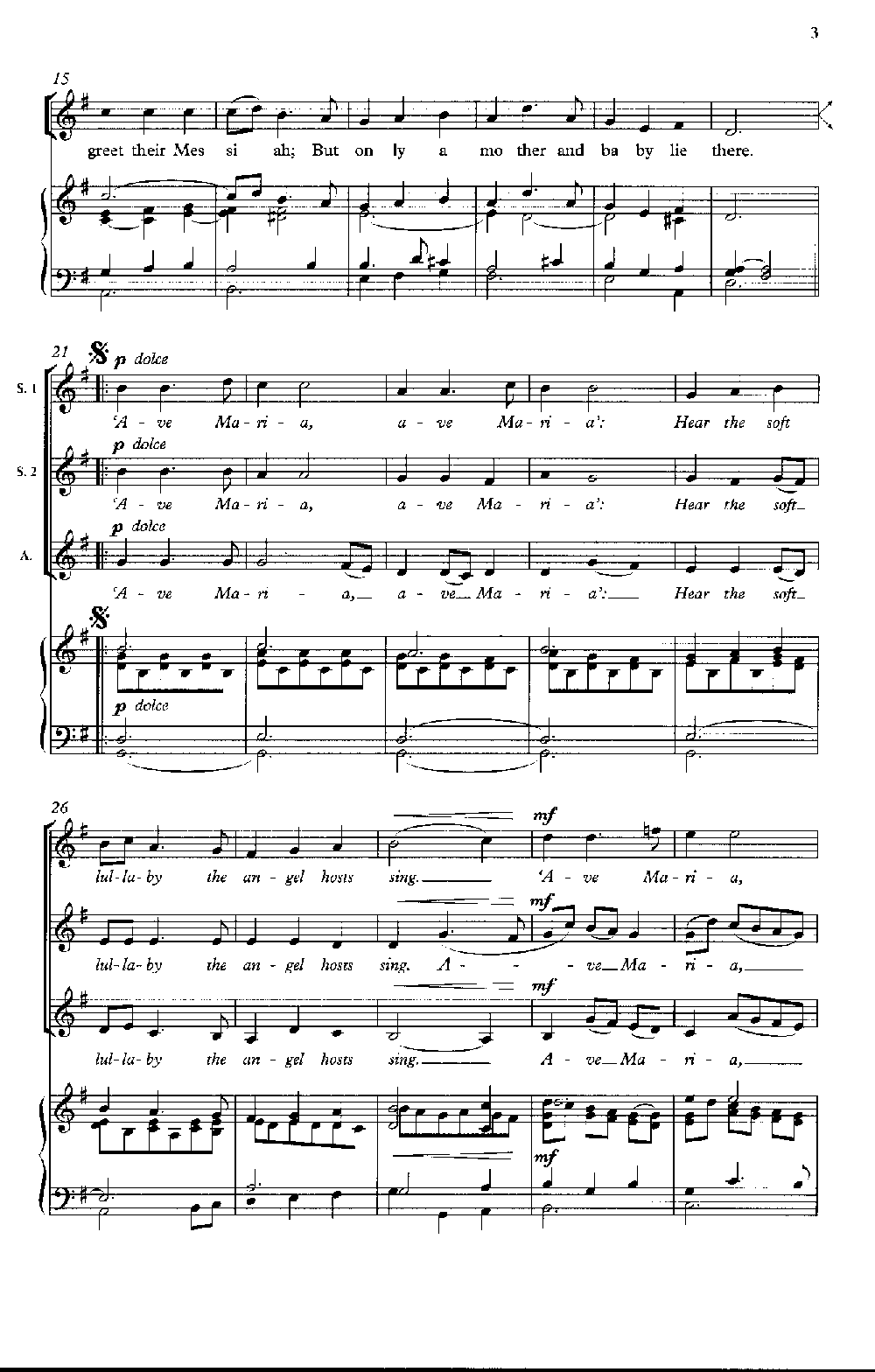 Christmas Lullaby (SSA ) by John Rutter| J.W. Pepper Sheet Music