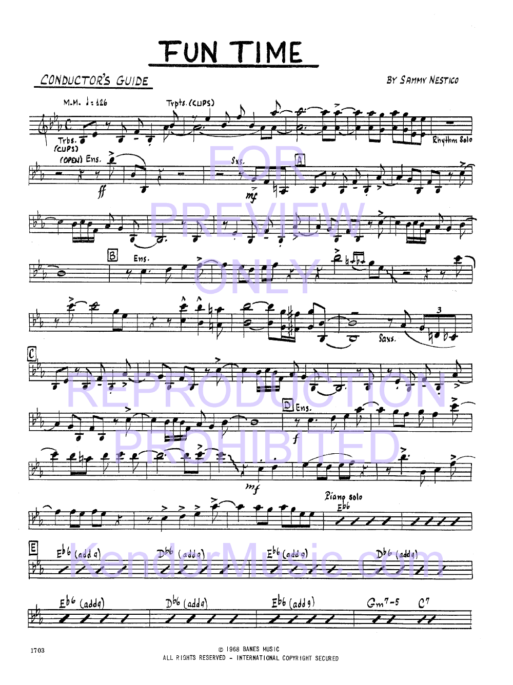 Fun Time by Sammy Nestico| J.W. Pepper Sheet Music