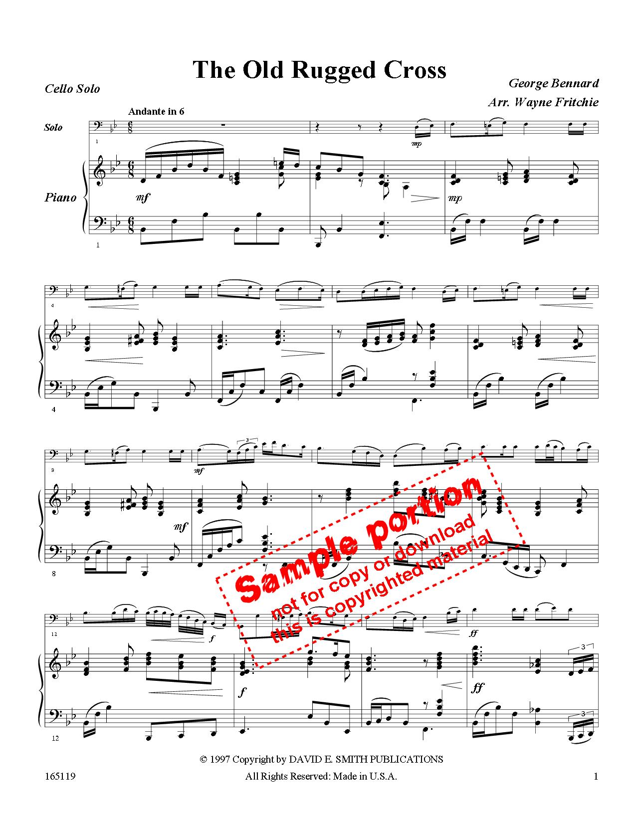 The Old Rugged Cross Sheet Music Edenaoforum